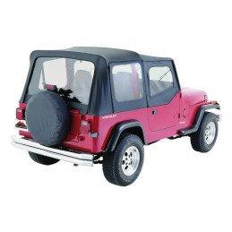 Bâche Jeep Wrangler YJ & CJ 1976-1995, demi-porte, AVEC ARCEAUX Noir // CT20015