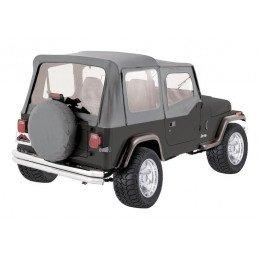 Bâche Jeep Wrangler YJ & CJ 1976-1995, demi-porte, AVEC ARCEAUX Gris // CT20009