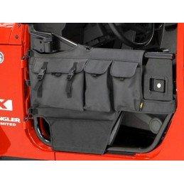 Sacs vides-poches pour demi-portes tubulaires ARRIERE Jeep Wrangler JK 07-17 BESTOP High-Rock // 51814-35