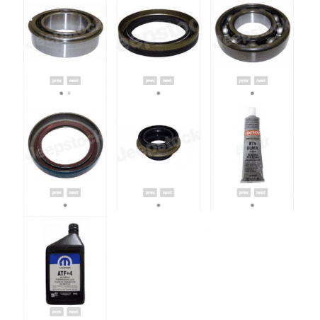 *Kit rénovation boite de transfert NV241 Jeep Cherokee KJ 2006-2007 - Ensemble joints Spi + Roulement