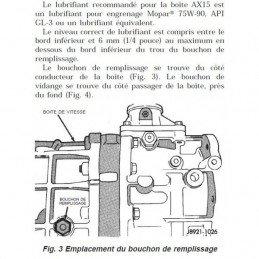 Bouchon de carter de differentiel Pont AR Dana 35C, 44 et 8,25 - Jeep Wrangler TJ 1997-06 / Cherokee Liberty KJ 2002 // 5252504