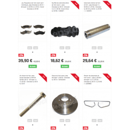 Disques + plaquettes + accessoires de frein avant / Jeep Wrangler TJ 99-06 / Cherokee XJ 99-01 // 5016434K-V2
