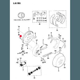 Goupille de fixation des mâchoires pour Frein à tambour arrière Jeep CJ 78-86, Wrangler YJ 87-89, Cherokee XJ 84-89 --J3143612