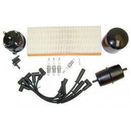 Kit entretien moteur Jeep Wrangler YJ 2.5L 91-93 (Filtre métrique) -Allumage, tête Delco, cables, bougies, filtre air huile