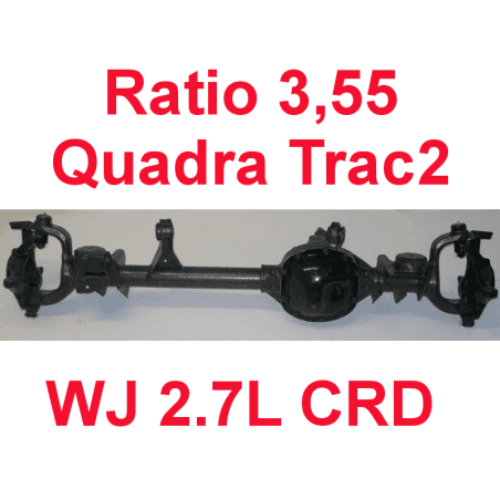 * Pont avant OCCASION Jeep Grand-Cherokee WJ 2,7L CRD 2000-2004 Dana super 30 r:3.55 Quadra-Trac2 avec huile et additif