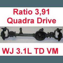 Pont avant OCCASION Jeep Grand-Cherokee WJ 3,1L TD VM 1999-2001 Dana super 30 r:3.91 Quadra-drive avec huile et adittif