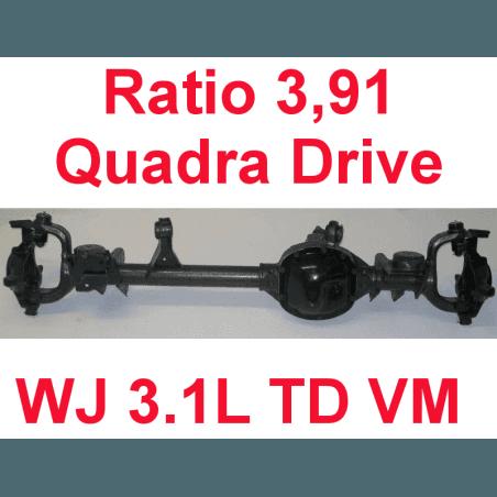 * Pont avant OCCASION Jeep Grand-Cherokee WJ 3,1L TD VM 1999-2001 Dana super 30 r:3.91 Quadra-drive avec huile et additif
