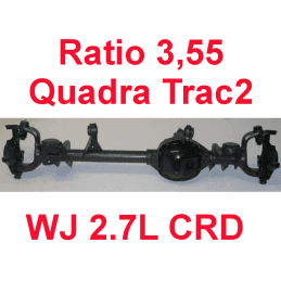 * Pont avant RECONDITIONNÉ À NEUF Jeep Grand-Cherokee WJ 2,7L CRD 2000-2004 Dana super 30 r:3.55 Quadra-Trac2