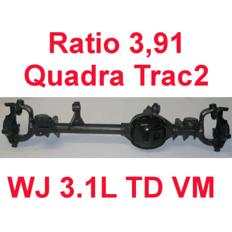 * Pont avant OCCASION Jeep Grand-Cherokee WJ 3,1L TD VM 1999-2001 Dana super 30 r:3.91 Quadra-Trac2 avec huile et additif