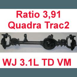 * Pont avant ÉCHANGE-STANDARD Jeep Grand-Cherokee WJ 3,1L TD VM 1999-2001 Dana super 30 r:3.91 Quadra-Trac2