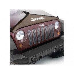 Protège calandre / Bâche triangle de capot Jeep Wrangler JK 2007-2018 - Vinyle KAKI -- 82210317