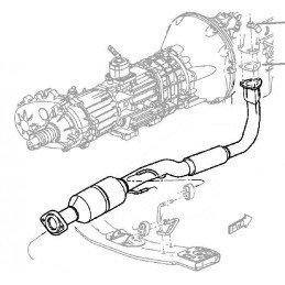 Pot catalytique - Jeep Cherokee KJ 2005-2007 2.8L CRD - OCCASION // 52080451AC-OCC