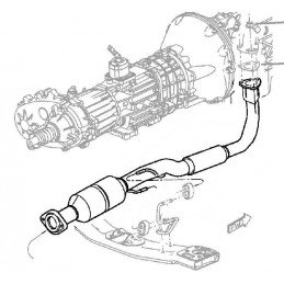 Pot catalytique - Jeep Cherokee KJ 2005-2007 2.8L CRD - OCCASION // 52080451AC-OCC