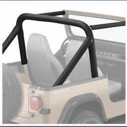 Housse Arceaux Jeep Wrangler YJ 1987-1990 - Housse matelassée de arceaux de sécurité Bestop Noir Denim -- BST80008-15