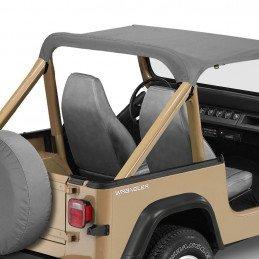 Bâche Bikini Jeep Wrangler YJ 1987-1991 Bestop Strapless - Auvent Gris -- BST52509-09