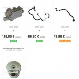 Pompe injection basse pression Jeep Grand-Cherokee WJ 2.7L CRD 02-05 5 cylindres - Mercedes - ÉCHANGE STANDARD
