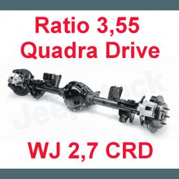 Pont arrière ÉCHANGE STANDARD Jeep Grand-Cherokee WJ 2,7L CRD 2001-2004 Dana 44 r:3.55 Quadra-drive avec huile et additif