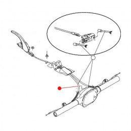 Câble de frein à main arrière gauche - Jeep Wrangler YJ 1987-1989 // 52003183