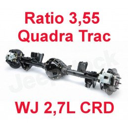 * Pont arrière OCCASION Jeep Grand-Cherokee WJ 2,7L CRD 2002-2004 Dana 44 r:3.55 Quadra Trac + huile + additif