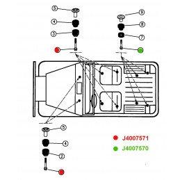 Vis de Fixation entre châssis et caisse - hauteur d'origine - Jeep Wrangler YJ, TJ 1987-2006 // J4007571