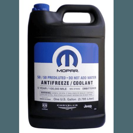 Liquide refroidissement antigel prêt à l'emploi - couleur ROUGE - Norme Constructeur Mopar MS-9769G -5ans/160000kms --68051212AB