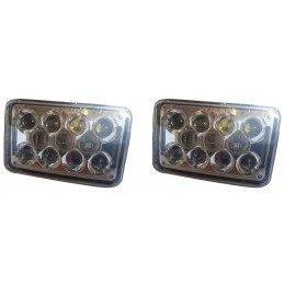 Jeu de 2x phares Avant LED - 11x16 cm Norme Europe - Jeep Wrangler YJ 1987-1995 -- 2xLED-YJ