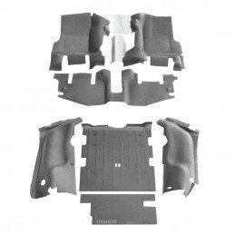 Kit tapis complet Jeep Wrangler TJ 1996-2006 - Moquette intérieure grise rénovation complète -- BTTJ97R