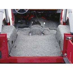 Tapis moquette Gris Jeep Wrangler TJ 1996-2006 -- 13691.09