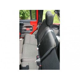 Housse de banquette arrière Noire Jeep Wrangler JK 2007-2018 2 portes // 13265.01