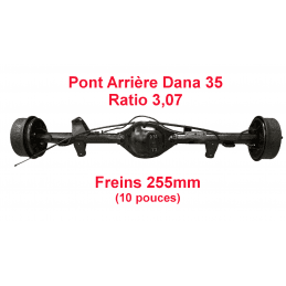 Pont arrière OCCASION Jeep Wrangler YJ 1987-1989 Dana 35C ratio 3.07 - 255mm