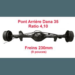 Pont arrière OCCASION Jeep Wrangler YJ 1990-1995 Dana 35C ratio 4.10 - 230mm