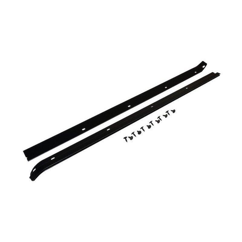 Rail de baie de pare-brise Noire percée - Jeep Wrangler CJ 76-86 / Wrangler YJ 1987-1995 // RT26064