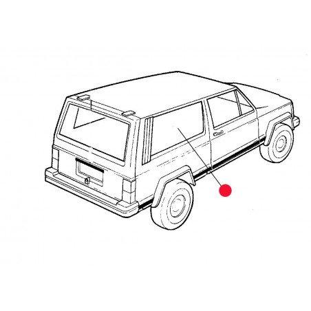 Custode / Vitre Arrière Droite Partie Fixe (côté coffre) - OCCASION - Jeep Cherokee XJ 2 PORTES 1984-01 // 55000186-OCC