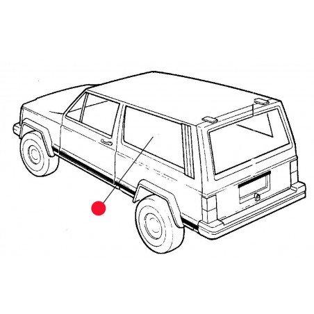 Custode / Vitre Arrière Gauche Partie Fixe (côté coffre) - OCCASION - Jeep Cherokee XJ 2 PORTES 1984-2001 // 55000187-OCC