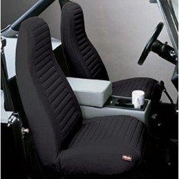 Housse de siège avant noir Jeep Wrangler YJ 1987-1991 gauche + droit -- 29227-15