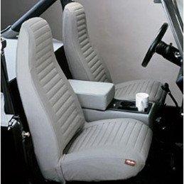 Housse de siège avant gris Jeep Wrangler YJ 1987-1991 gauche + droit --  29227-15