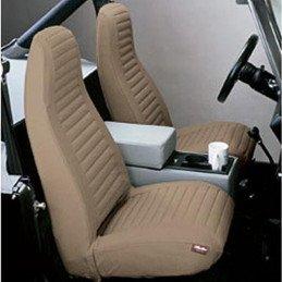 Housse de siège avant beige Jeep Wrangler YJ 1992-1995 gauche + droit -- 29224-37