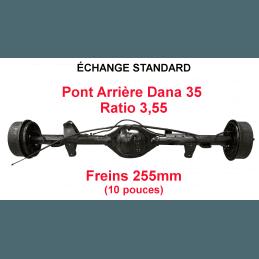 Pont arrière ÉCHANGE STANDARD Jeep Wrangler YJ 1987-1989 Dana 35C ratio 3.55 - 255mm
