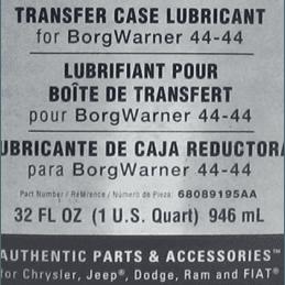 Huile spéciale Boîte de transfert BorgWarner 44-44 - bidon 1L - Dodge RAM -- 68089195AA