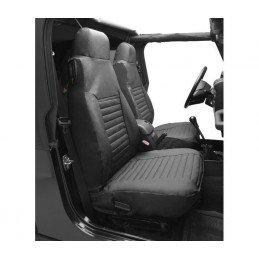 Housses de siège avant Jeep Wrangler TJ 2003-2006 Bestop Noir Vinyl - 1 Paire -- 29228.35