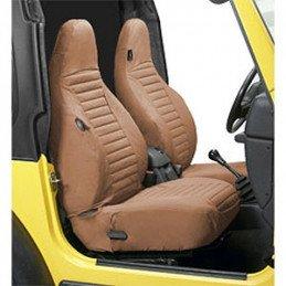 Housses de siège avant Jeep Wrangler TJ 1996-2002 Bestop - Tan/Camel - 1 paire // 29226-37