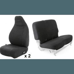 Housses de sièges avant et banquette arrière Jeep Wrangler TJ 1996-2002 - SmittyBilt - Noir tissus néoprène // 1629.43