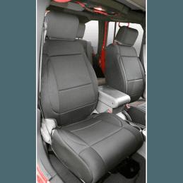 Housse de siège avant Jeep Wrangler JK 2007-2018 - Tissus néoprène Noir - Rugged Ridge -- 13214.01