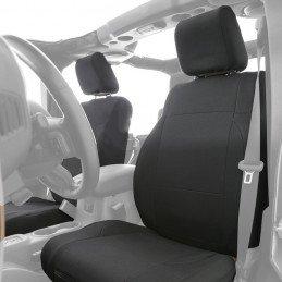 Housses de sièges Avant + Arrière Jeep Wrangler JK 4 portes 2008-2012 - Houses Noires en Néoprène Smittybilt --SB471701