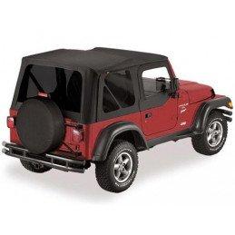 Bâche de remplacement Jeep Wrangler TJ , Noire vinyl , Vitres teintées