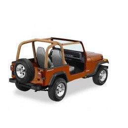 Housse Arceaux Jeep Wrangler YJ 1992-1995 - Housse matelassée arceaux de sécurité Bestop camel -- BST80009-37