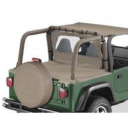 Housse Arceaux Jeep Wrangler TJ 1996-2002 - Housse matelassée arceaux de sécurité Bestop Kaki Foncé -- BST80020-33