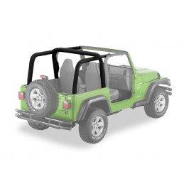 Housse Arceaux Jeep Wrangler TJ 2003-2006 - Housse matelassée arceaux de sécurité Bestop Noir Skaï -- BST80022-35