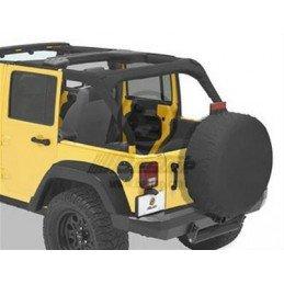 Housse Arceaux Jeep Wrangler JK 2007-2017 4 portes - Housse matelassée arceaux de sécurité Bestop Noir Skaï -- BST80025-35