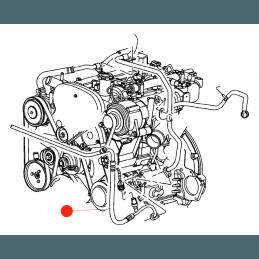 Tuyau de refoulement du liquide de climatisation / Conduite de climatisation Jeep Cherokee KJ 2005-2006 --55037818AC